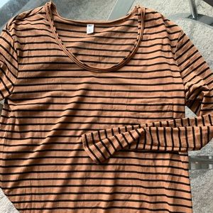 Striped BP long sleeve top